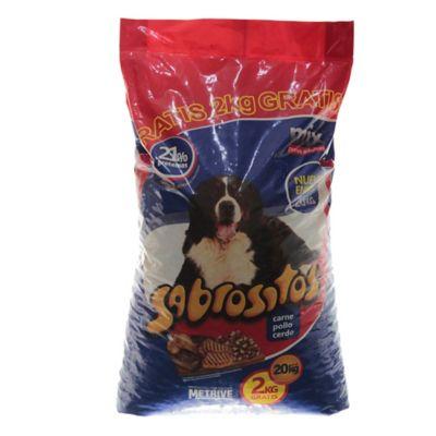 Alimento para perro adulto 22 kg mix de carne