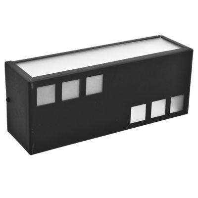 Aplique difusor de vidrio satinado 2 luces negro