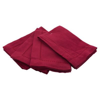 Pack de 4 servilletas bordo