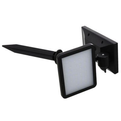 Foco panel exterior solar con fotocélula 4w negro