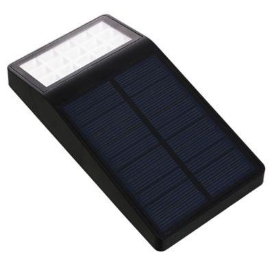 Aplique exterior solar con fotocélula 4w negro