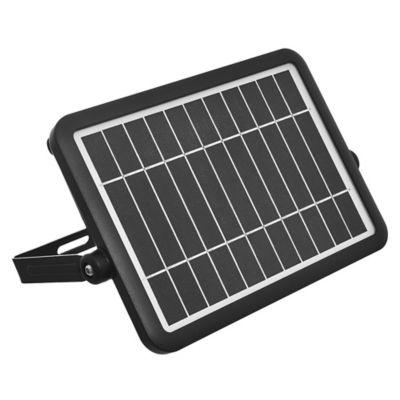 Foco panel exterior solar con sensor leadpad negro