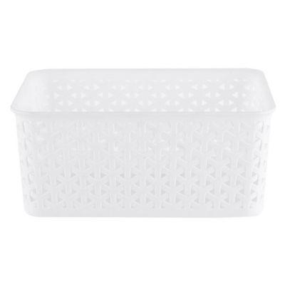 Canasto organizador de plástico blanco 4 L