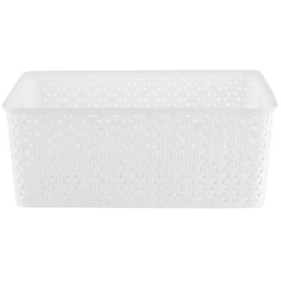 Canasto organizador de plástico blanco 14 L