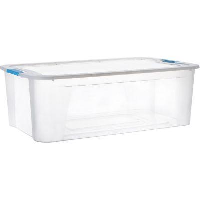 Caja ulraforte bajo cama 30 L traslúcida