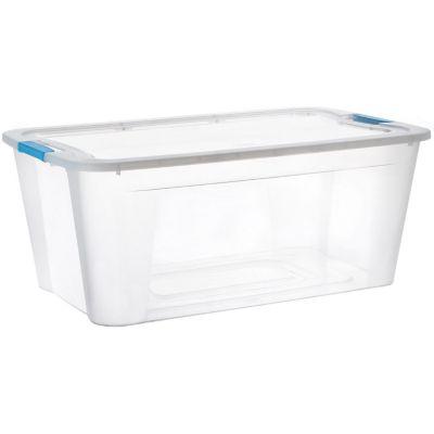 Caja organizadora de plástico con tapa Ulraforte transparente 46 L
