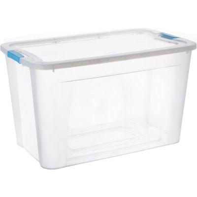 Caja organizadora de plástico con tapa Ulraforte transparente 68 L