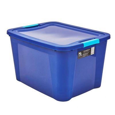Caja organizadora de plástico Ulraforte azul 68 L