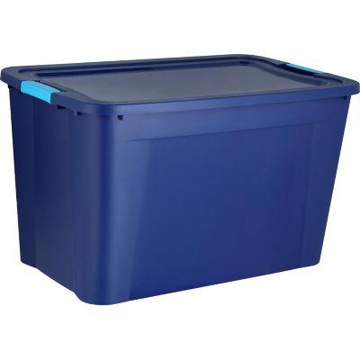 Caja organizadora de plástico con tapa Ulraforte azul 120 L