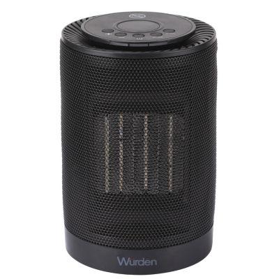 Calefactor eléctrico PTC cilin-cerámica negro 1200 w