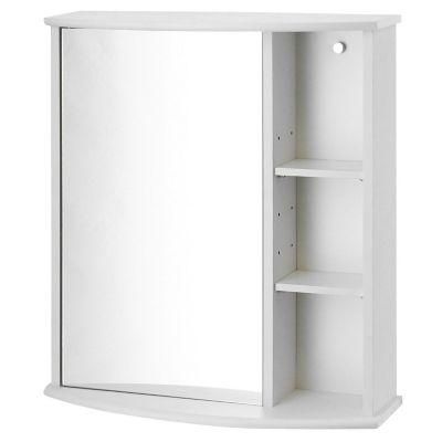 Botiquín para baño con espejo blanco 58 x 66 x 22 cm