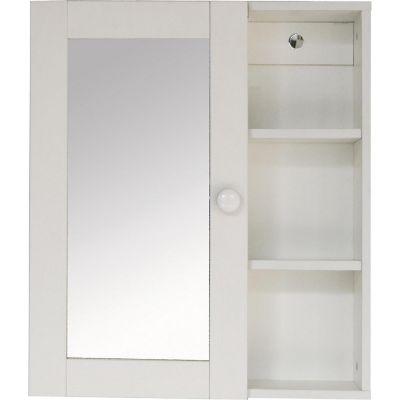 Botiquín de baño con espejo 52 x 45 x 16 cm
