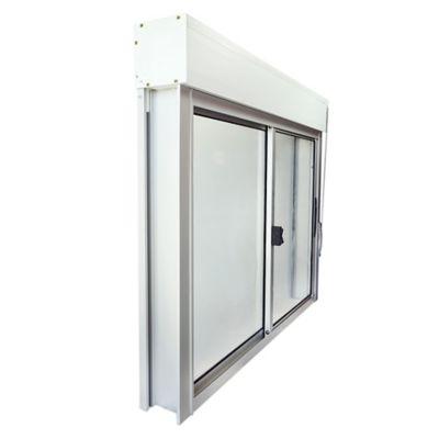 Monoblock de aluminio y persiana de PVC natural 120 x 100 cm