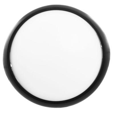Tortuga redonda 8 w negra 17 cm cálida