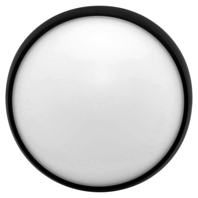 Tortuga redonda 15 w negra 26 cm cálida