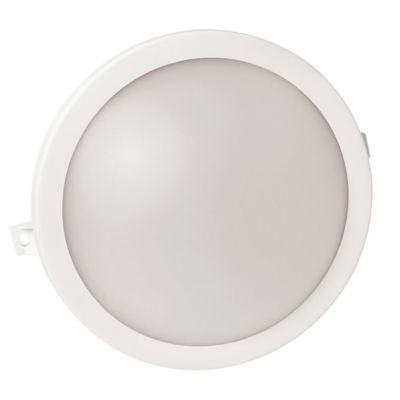 Tortuga redonda 8 w blanca 15 cm fría