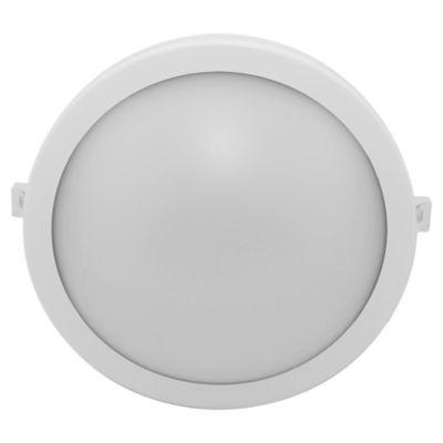 Tortuga redonda 15 w blanca 19 cm fría