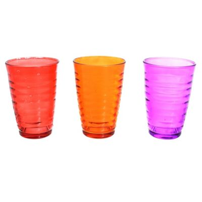 Pack de 3 vasos multicolor Orbita 310 ml