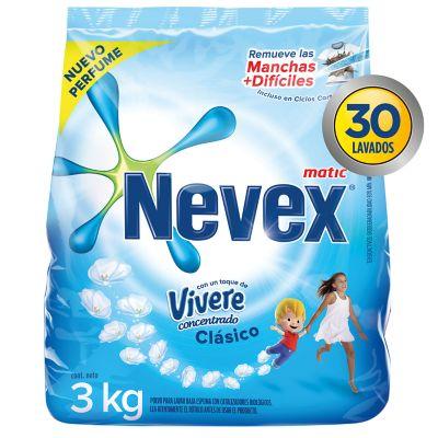Jabón en polvo para ropa con vivere 3 kg