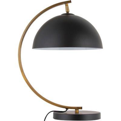 Lámpara de mesa Bissen negra 1 luz E27