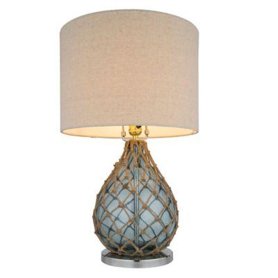 Lámpara de mesa Udine azul 1 luz E27