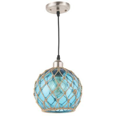 Lámpara colgante Udine azul 1 luz E27