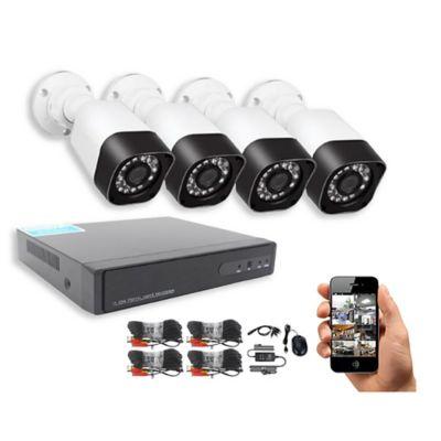 Kit de vigilancia HD con 4 cámaras
