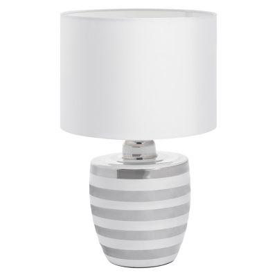 Lámpara de mesa Mariana blanca 1 luz E27