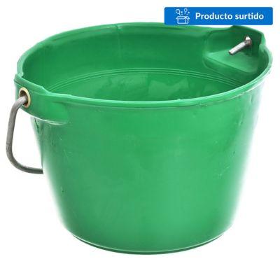 Balde de plástico reforzado verde
