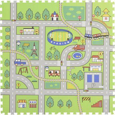 Alfombra infantil Puzzle Pista 60 x 60 cm