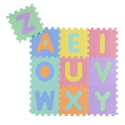 Alfombra infantil de goma eva Puzzle Letras encastrable 30 x 30 cm
