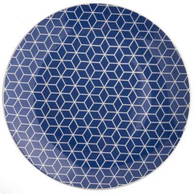 Plato chico diseño azul