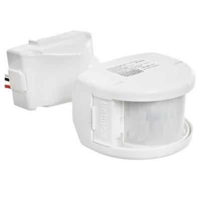 Sensor de movimiento exterior 180° frontal blanco