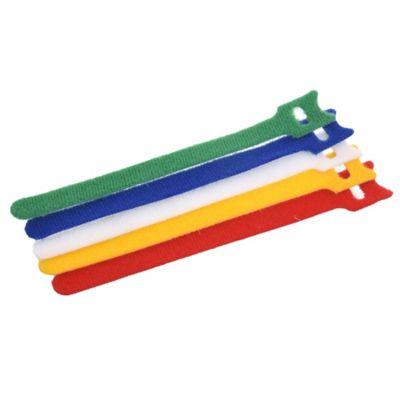 Pack de 5 precintos velcro 150 x 1,2 mm multicolor