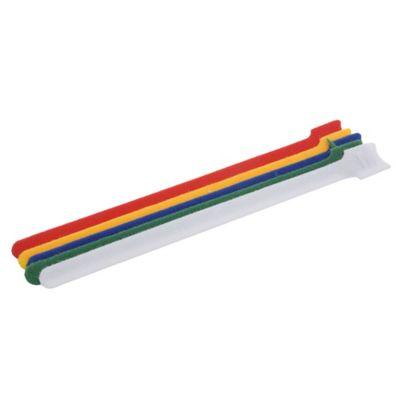 Pack de 12 precintos velcro 240 x 1,2 mm multicolor