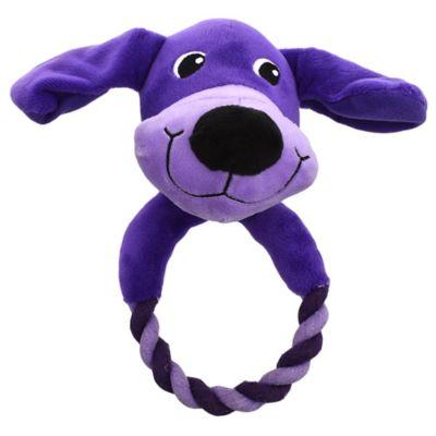 Perrito con aro de cuerda