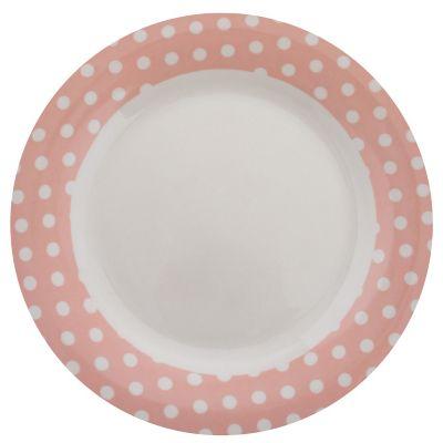 Plato Puntos rosa 26 x 26 cm