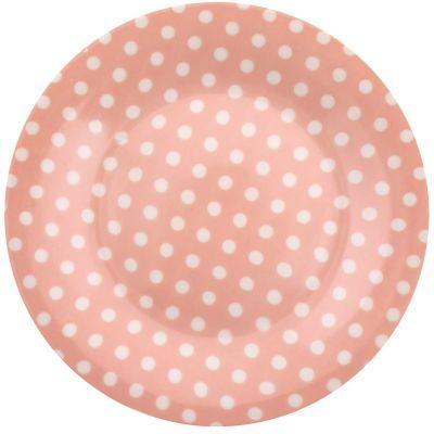 Plato Puntos rosa 19 x 19 cm