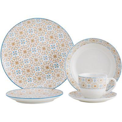 Juego de vajilla de cerámica Mosaico Moroc 20 piezas