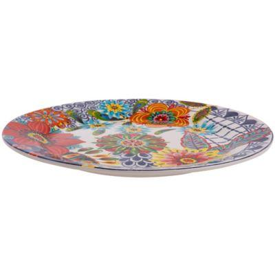 Plato redondo 27 x 27 cm multicolor