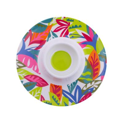 Plato redondo multicolor Hello Summer 33,5 cm