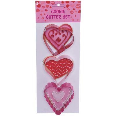 Pack de 3 cortadores de galletas corazón