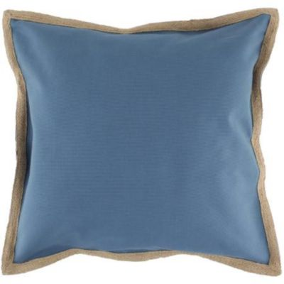 Almohadón Yute 50 x 50 cm azul