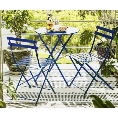 Juego de balcón Arezzo de aluminio 3 piezas azul