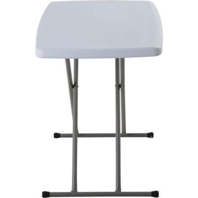 Mesa plegable tipo maleta 2 alturas blanca 75,5 cm