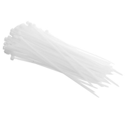 Pack de 100 precintos 200 x 4,8 mm blanco