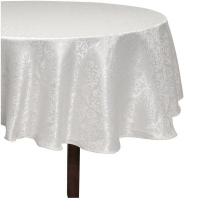Mantel redondo Jacquard 180 cm blanco