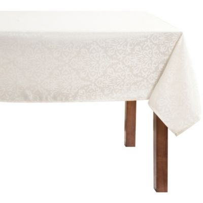 Mantel rectangular Jacquard 160 x 230 cm beige