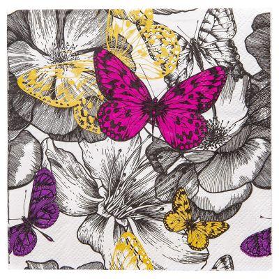 Servilleta de papel 33 x 33 cm mariposa
