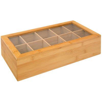 Caja de té bamboo